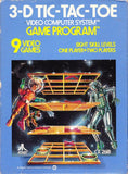 3-D Tic-Tac-Toe Atari 2600 Game Off the Charts