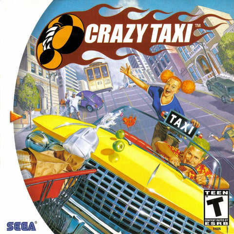 Crazy Taxi - Case and Game Sega Dreamcast Game Off the Charts