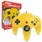 Old Skool Nintendo 64 Controller in Yellow Nintendo 64 Accessory Off the Charts
