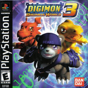 Digimon World 3 Playstation Game Off the Charts