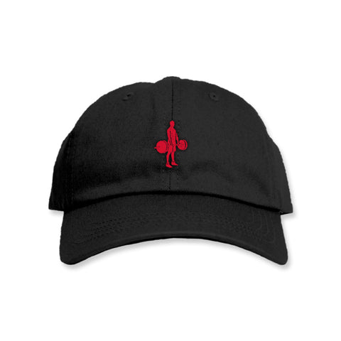 Lifter - Polo Black w/ Red Hat
