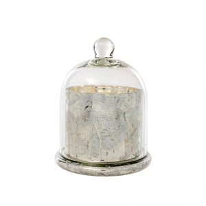 Silver Amber Spruce Cloche Candle - Large