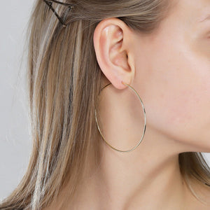 Sanne 60mm Earrings - Gold
