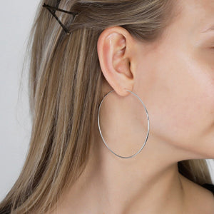 Sanne 60mm Earrings - Silver