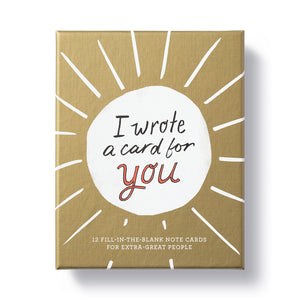 I Wrote A Card For You Card Kit