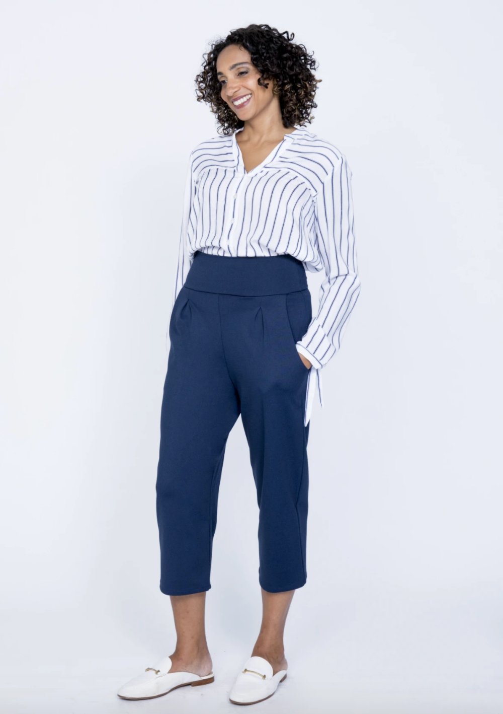 Wilfred Navy Pant