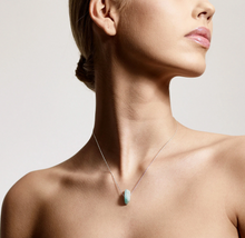 Load image into Gallery viewer, Silver Throat Chakra Necklace