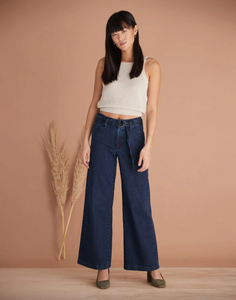 Lily Wide Leg Jean - Cosmo