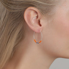 Load image into Gallery viewer, Janis Earrings - Orange/Silver