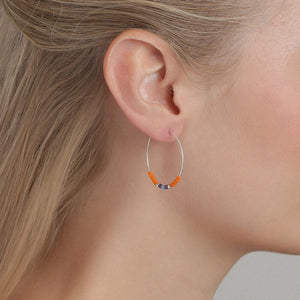 Janis Earrings - Orange/Silver