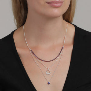 Kiku Necklace - Purple