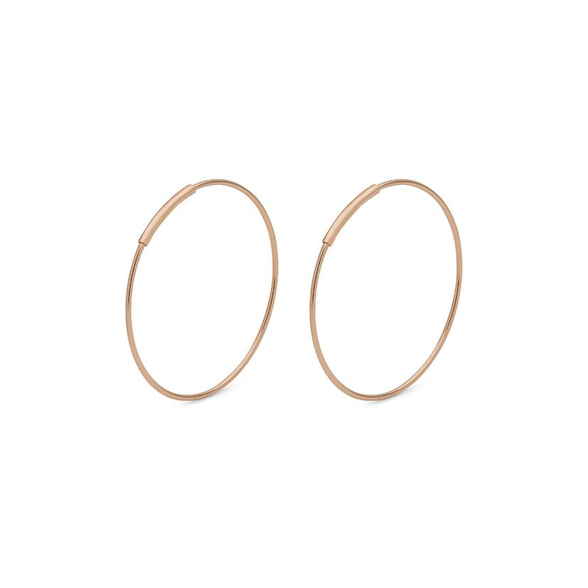 Raquel 26mm Earrings - Rose Gold
