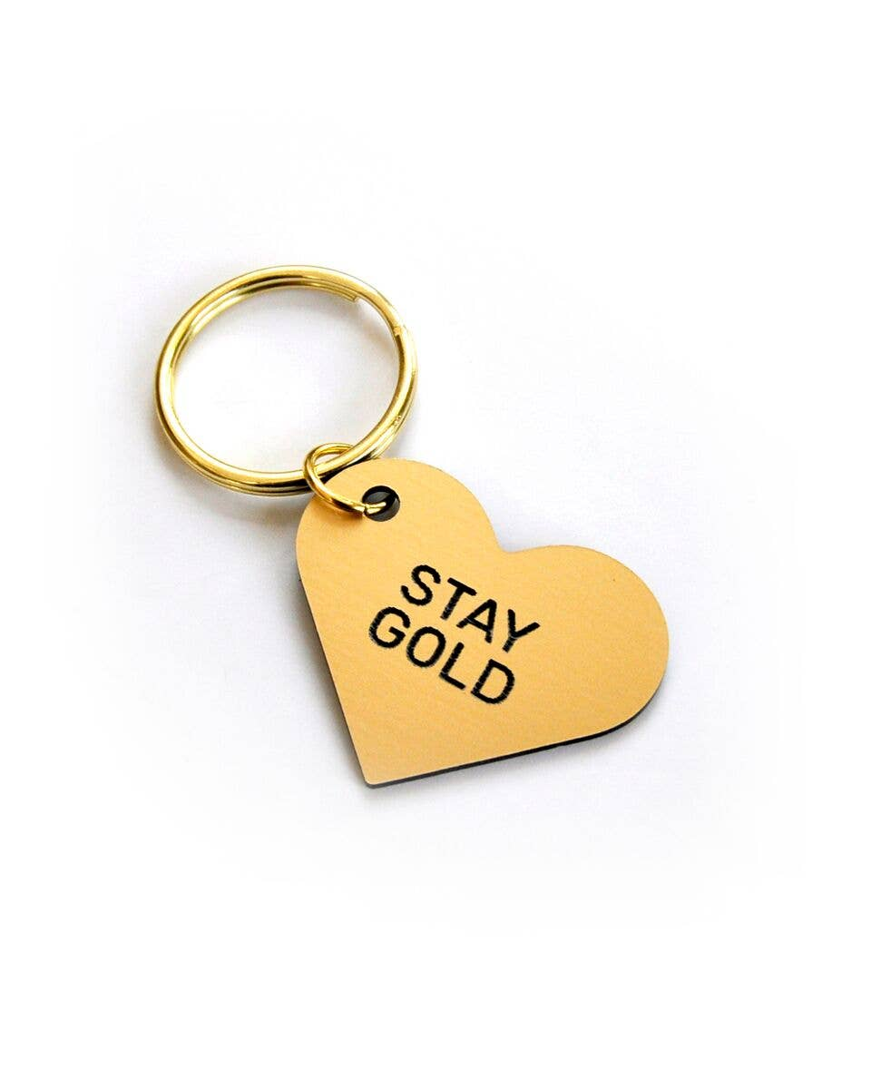 Stay Gold Heart Keytag