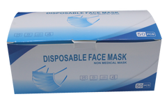 FMSK 3-PLY Disposable Face Mask 50 Pcs/Pack (Box ) (min 5 boxes)