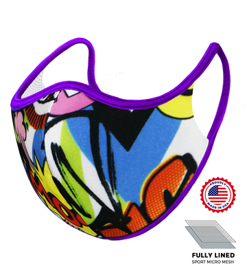 Purple Pop Art Hero Mask - S/M