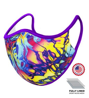 Purple Psychedelic Mask - S/M