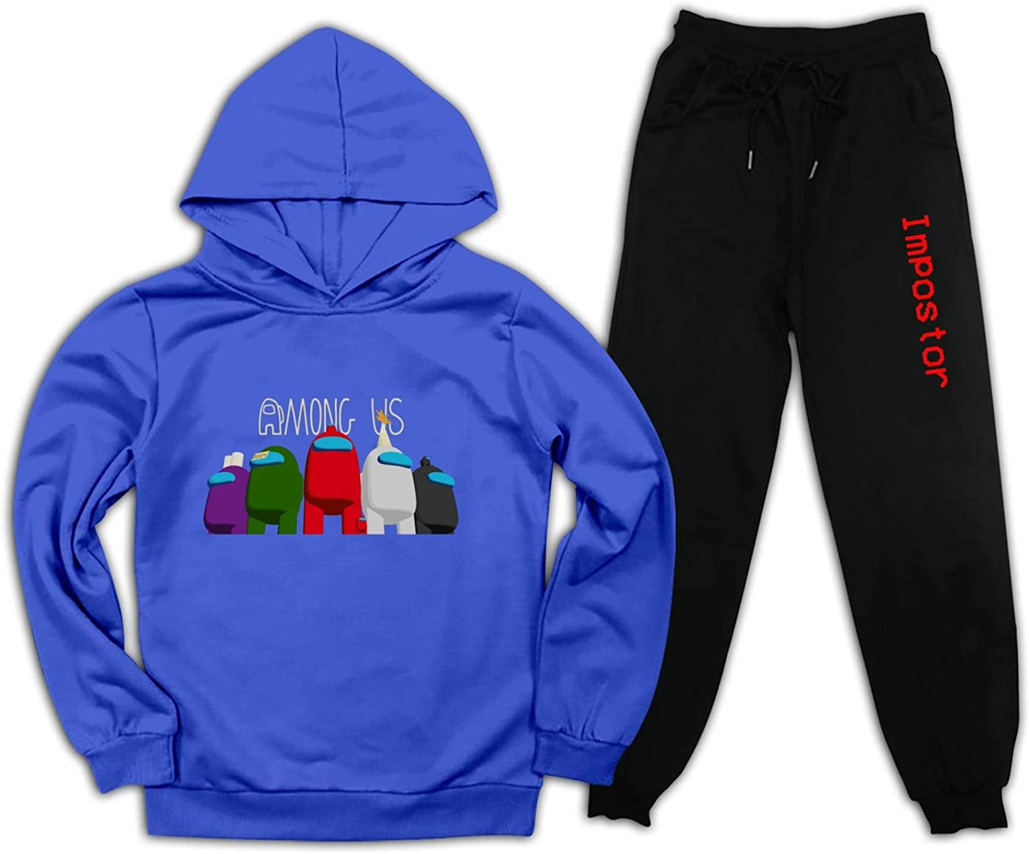 Teen Hooded Sweatshirt Suit for Kids Boy and Girls Among Us Pullover Hoodies and Sweatpants Suit