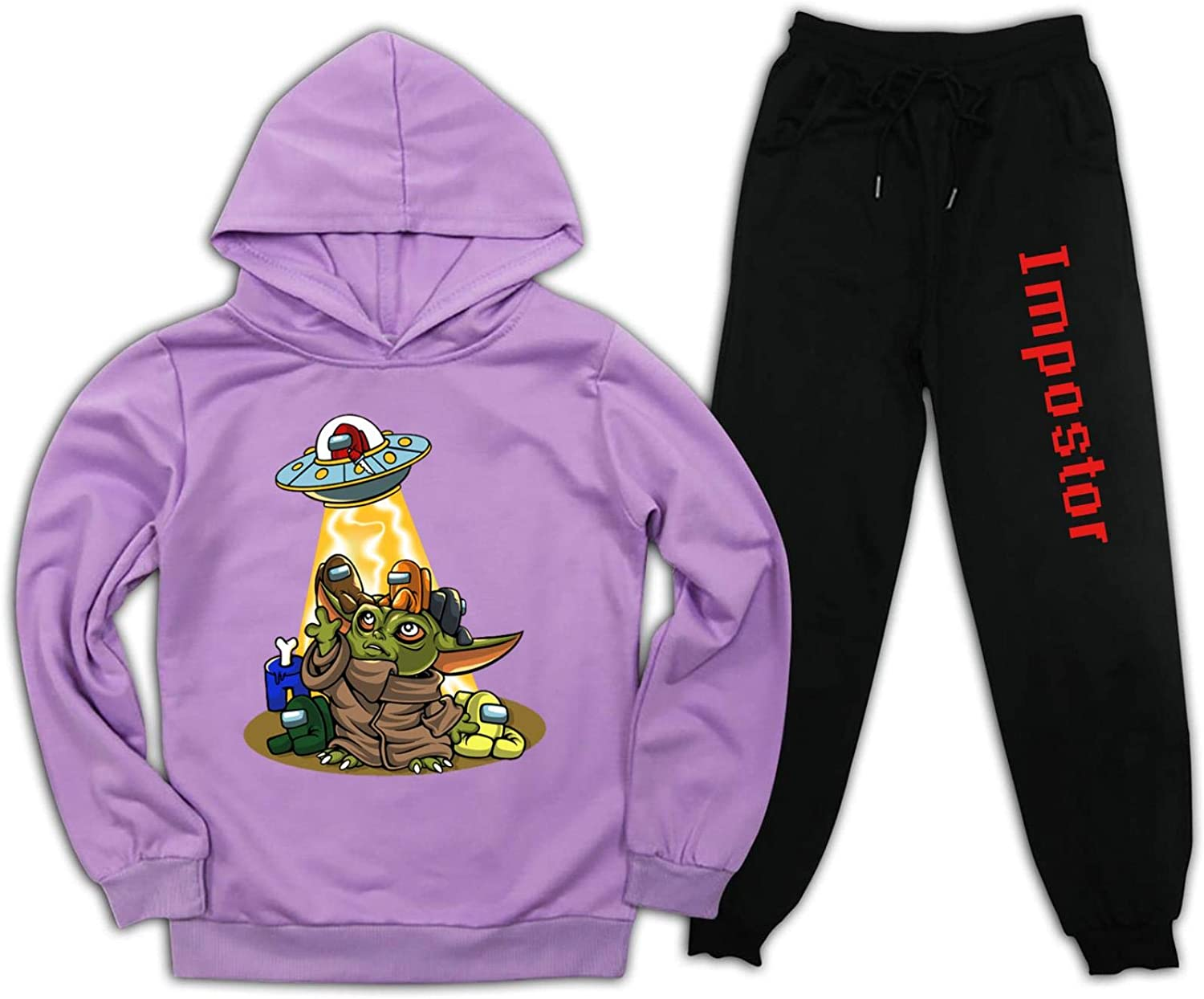 Kids Among US Pullover Hoodie and Sweatpants Set for Boys Girls 2 Piece Sweatshirt Set