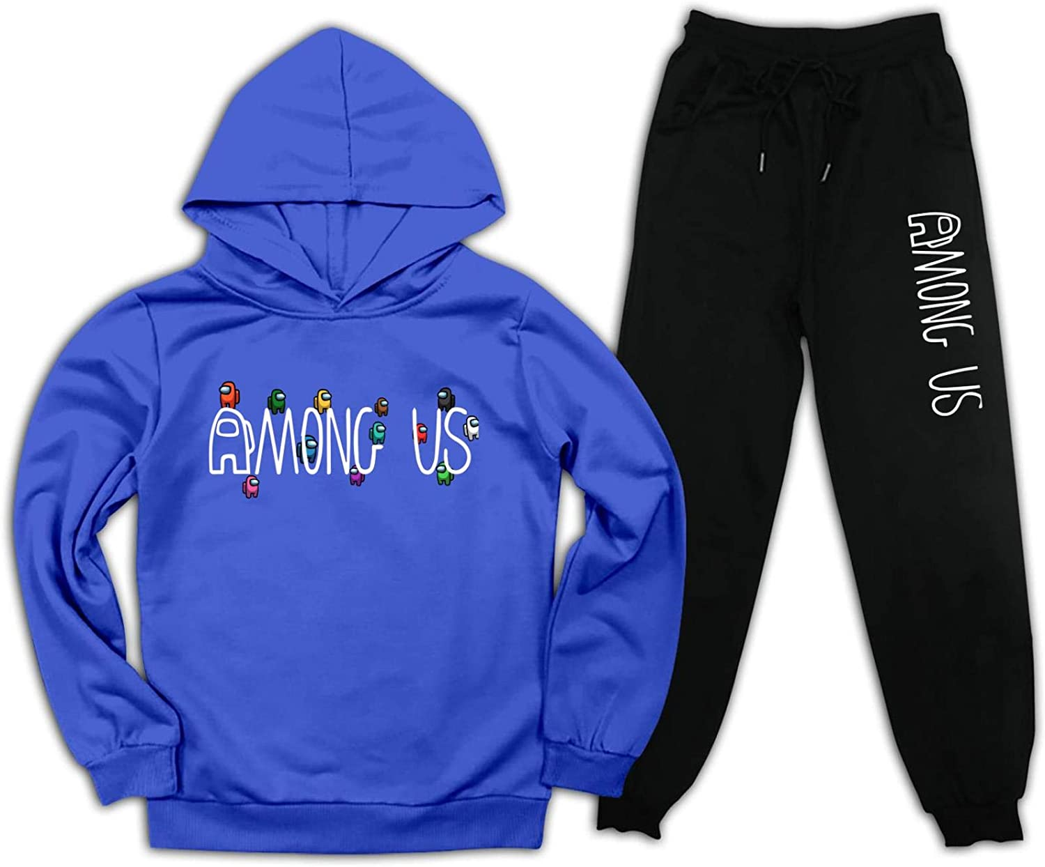 2 Piece Set Youth Among us Pullover Hoodie and Sweatpants Suit for Boys Girls