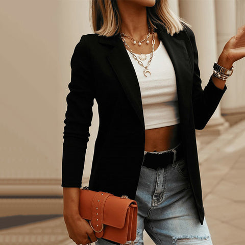 Fashion casual solid color blazer