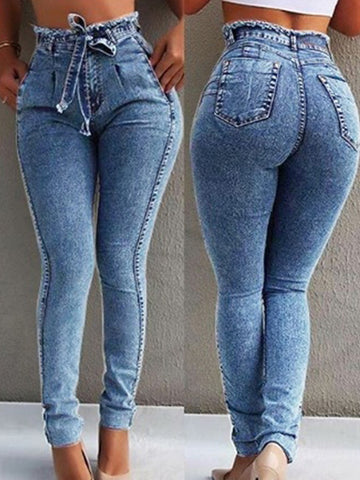 New High Waist Slim Casual Stretch Jeans