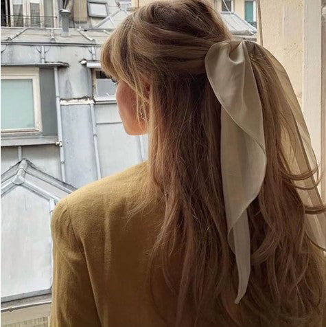 Printed bow ribbon for girls large intestine hair ring wq05