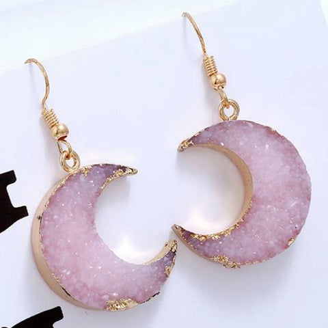 Sweet Moon Shape Earrings