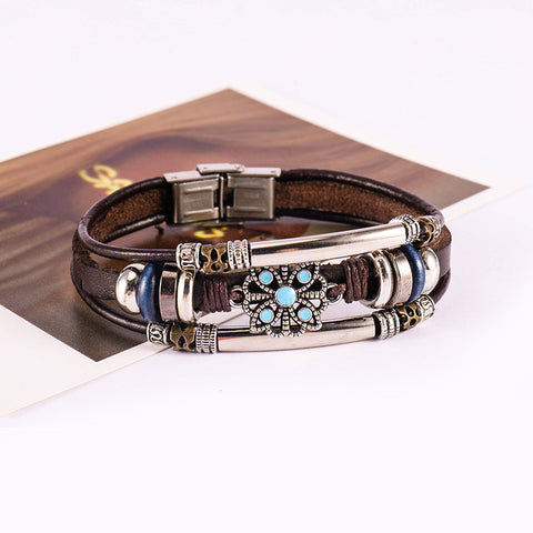 Vintage Multi-layer Leather Bracelet