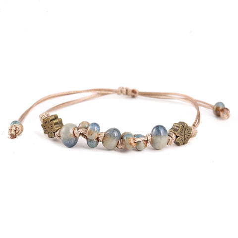Simple Ceramic Hand-woven Adjustable Bracelet