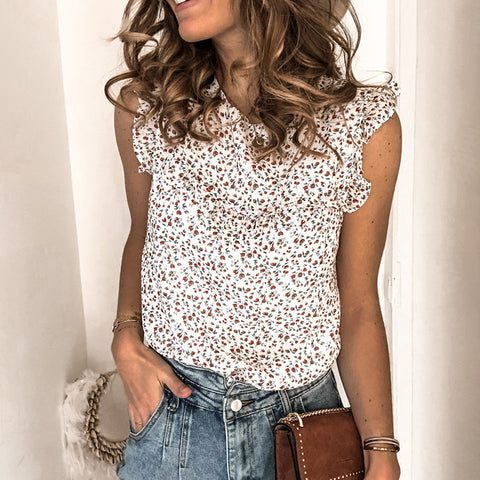 Womens fashion casual floral vest