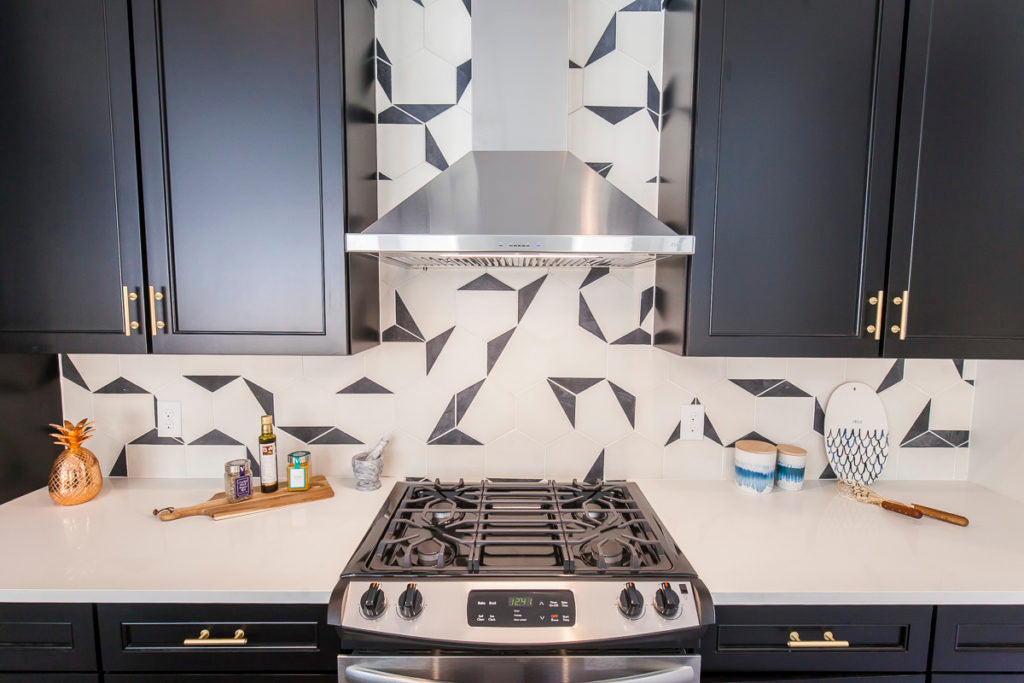 Black Tip Hex for a kitchen accent wall.