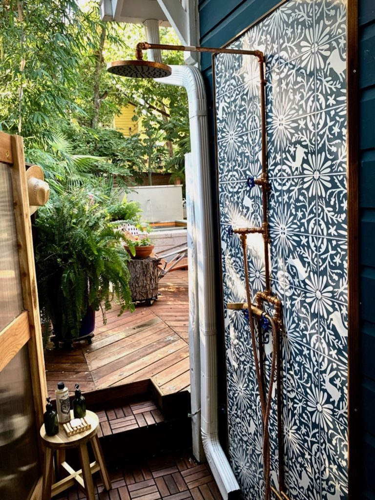 Otomi Tile l Outdoor Shower l Clay Imports