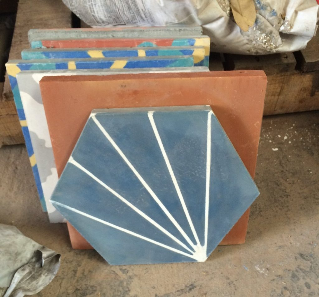 Tile to Wood Transition - Dandy Midnight Cement Tile