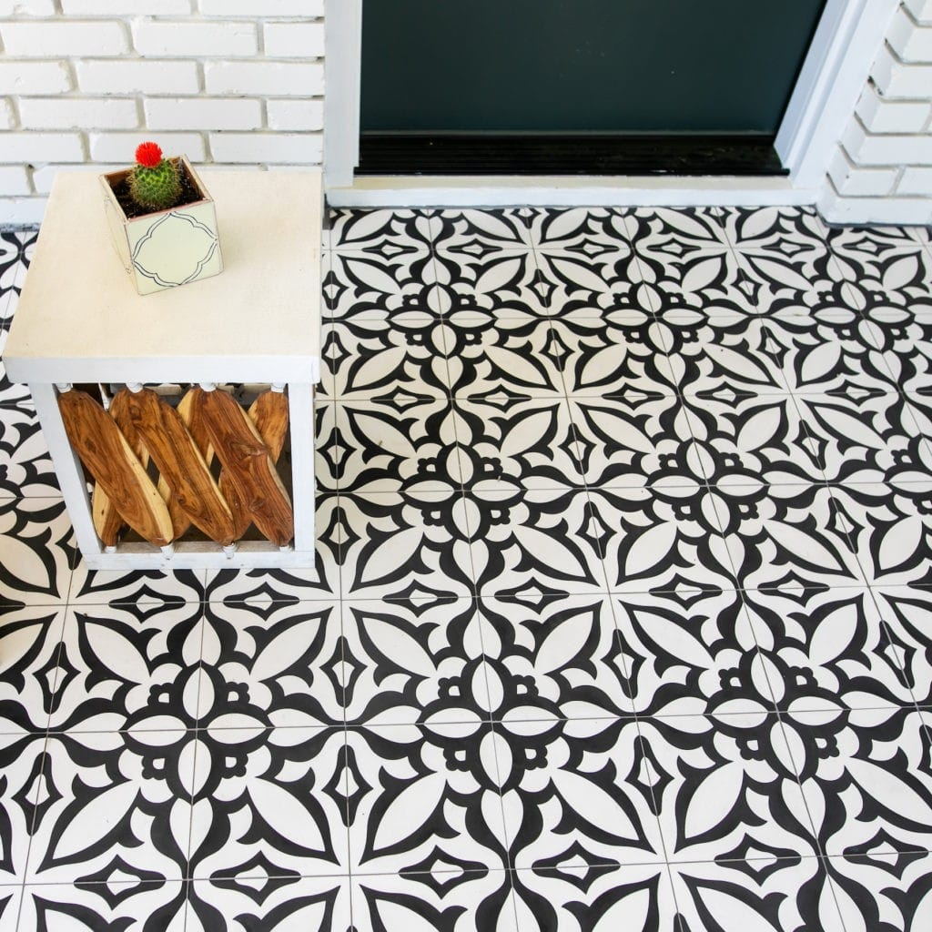 Design Trends 2020. Natural materials, sustainable design, black and white cement tile
