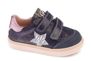 PABLOSKY GIRLS CASUAL SHOES-090227-GLITTER NAVY/PINK