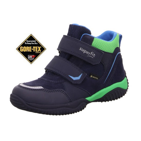 SUPERFIT STORM GORETEX BOYS ANKLE BOOT-1-009385-8000-NAVY/GREEN