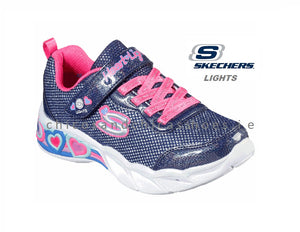 SKECHERS GIRLS- S LIGHTS-SWEETHEART LIGHTS - SHIMMER SPELLS-302304L NAVY/MULTY