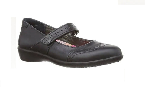 RICOSTA-GIRLS SCHOOL SHOES-BECKY-BLACK LEATHER