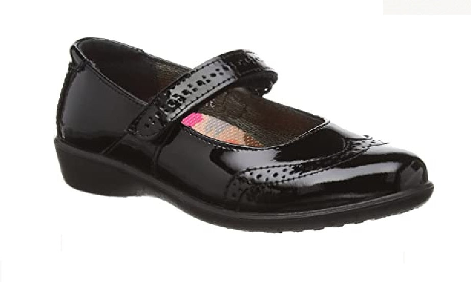 RICOSTA-GIRLS SCHOOL SHOES-BECKY-BLACK PATENT