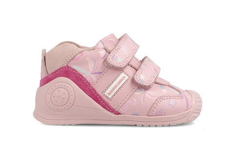 BIOMECANICS 202120A DOUBLE VELCRO CASUAL SHOE - PINK