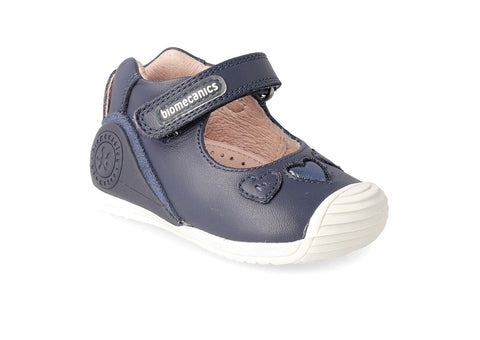 BIOMECANICS GIRLS SHOES-192110A-NAVY & WHITE