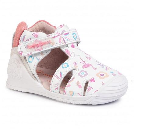BIOMECANICS GIRLS SHOES-202122-WHITE/PRINT