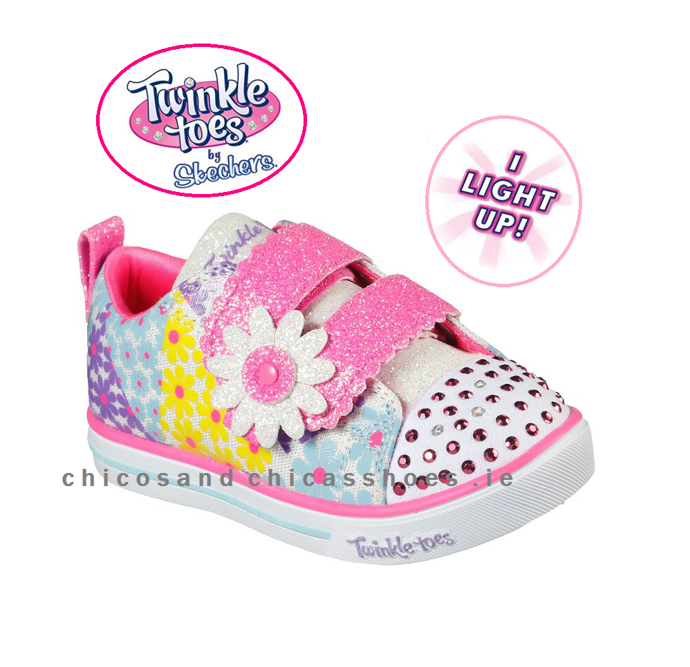 MINI BLOOMS SKECHERS TODDLERS TWINKLE TOES-314762N/WMLT-MEMORY FOAM