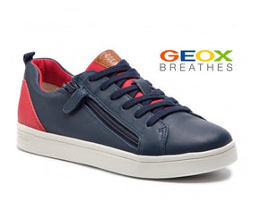 GEOX BOYS CASUAL SHOE-DJ ROCK-J925VD-NAVY/RED