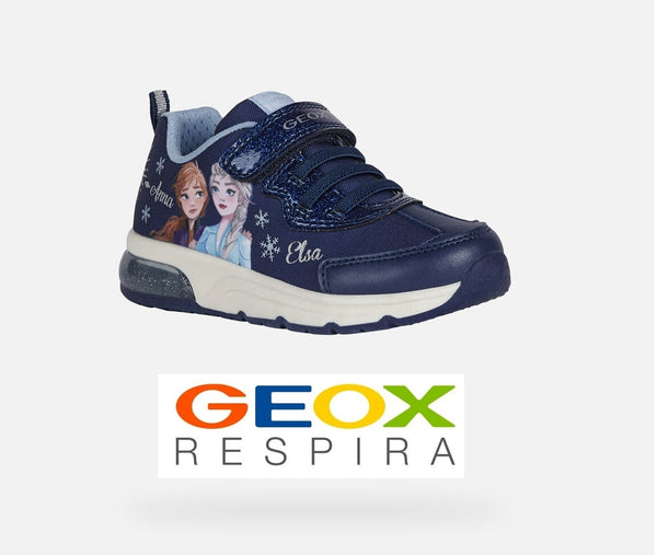GEOX GIRLS SNEAKERS-J SPACECLUB/FROZEN-J158VB-NAVY/SKY