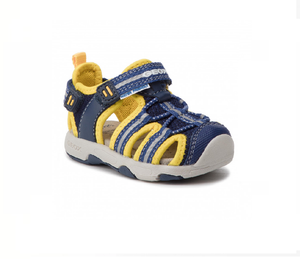 GEOX BOYS-CLOSED TOE SANDALS-B920FB-NAVY/YELLOW