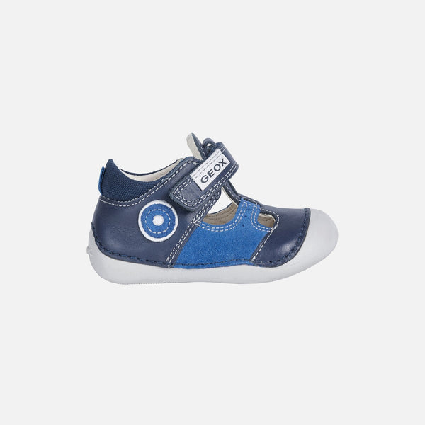 GEOX BOYS PRE-WALKER T/BAR-B TUTIM-NAVY/ROYAL