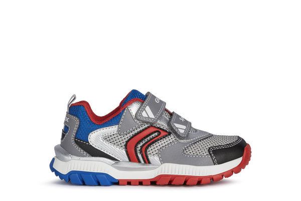 GEOX BOYS RUNNERS-J TUONO-J15AXD-GREY ROYAL