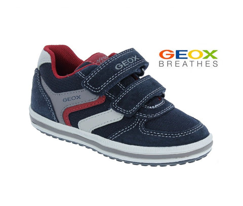 GEOX BOYS CASUAL SHOES-J VITA - J92A4A-NAVY/RED