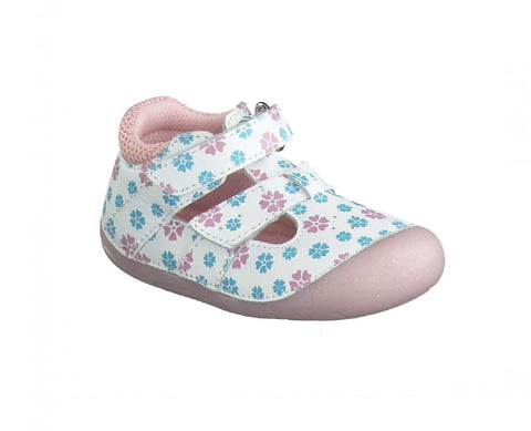 LURCHI GIRLS PRE-WALKERS-FIOLI-33-13998-01-WHITE FLOWER
